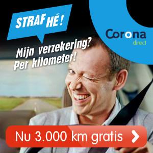 3.000 Kilometer gratis verzekerd bij Corona Direct